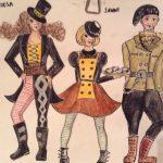 Suunnittelu ja puvustus: Joulukortti luonnos